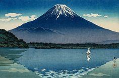 "Japanese Art Print ""Shoji Lake (Mt. Fuji)"" by Tsuchiya Koitsu. Shin Hanga and Art Reproductions http://www.amazon.com/dp/B00VCG2LSK/ref=cm_sw_r_pi_dp_mrUuwb02BGS76"