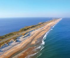 Highway 12, Outer Banks, NC - a stunning drive...runs out of road in Corolla...keep driving onto the beach until the Virginia State Line. it'll be the best drive of your life.