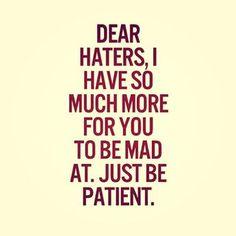dear haters, - Dalila em Fúria