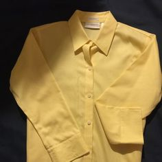 Yellow blouse Beautiful Liz Claiborne yellow blouse very classy and in excellent shape no iron Liz Claiborne Tops Blouses