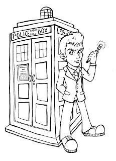 Doctor Who Coloring Page Cute Just Plain Cool Coloring Pages
