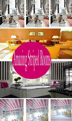 Striped Rooms is a way to create a room of your House into a more colorful, but as for the more important function is to make the room seem more spacious