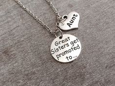 Great sisters get promoted to, Aunt, Auntie, pregnancy announcement ,Aunt…