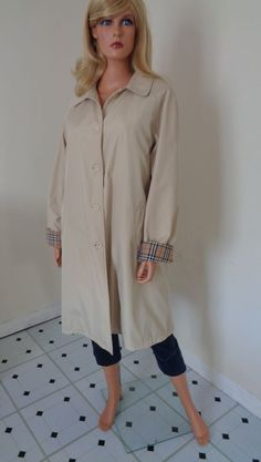 Ladies Burberry Trench Coat No Belt Size XXL Please Read Description in Clothes, Shoes & Accessories, Women's Clothing, Coats & Jackets | eBay!