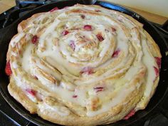 Cooking with Carlee: Strawberries and Cream Skillet Roll