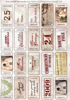 Daily Digital Scrapbooking Freebies - I used these for my Christmas gift tags this year and they were awesome!