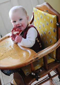 Chair Pad For Wooden Baby High Chairs. Soule Mama