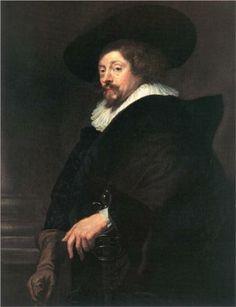 RUBENS SIR Pieter Paul - Flemish (Siegen 1577-1640 Antwerp) -  zelf portrait aged 62 C.1638. / Vienna Kunsthistorisches Museum