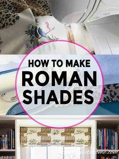 How to make Roman shades