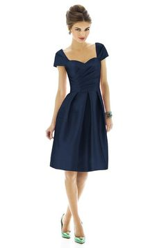 Alfred Sung bridesmaid dress in Dupioni Midnight