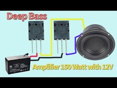 DIY Deep Bass Amplifier 150 Watt with Battery - DIY Amplifier ---------------------------------------------- ❤️ Thank you for watching! Electrical Projects, Electronics Projects, Car Audio Installation, Subwoofer Box Design, Diy Amplifier, Diy Speakers, Bass Amps, Speaker Design, Circuit Diagram