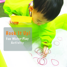 We love how fun yet simple to set-up this activity is. If you have some coloured rubber bands, you can work on colour sorting and naming as well.  Have fun! Totally suitable for a Lazy Sunday! ❤️