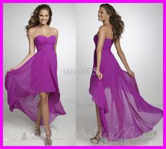 Maybe a different shade of purple but love the style! Wholesale New Arrival Purple Short Front Long Back Chiffon Bridemaid Bridesmaid Dresses B1945, Free shipping, $63.84-85.12/Piece | DHgate