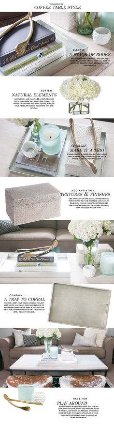 Summer Styling Series: Coffee Table Styling - Earnest Home co. Coffee Table Styling, Decorating Coffee Tables, Tray Styling, Coffe Table, Styling Tips, Living Room Inspiration, Home Decor Inspiration, Interior Design Tips, Interior Styling