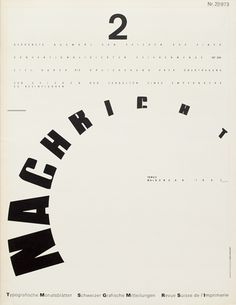 TM SGM RSI, Typografische Monatsblätter, issue 2, 1973. Cover designer: Wolfgang Weingart
