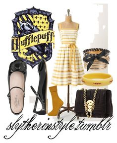 Summer Hufflepuff by slytherinstyle on Polyvore featuring polyvore, fashion, style, Topshop, Palazzo Bruciato, Kate Spade, Forever 21, Mark Davis and clothing