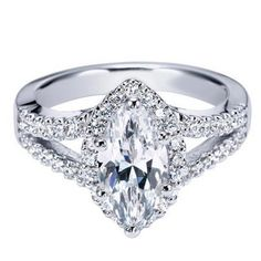 "❤️ Dream ring by Ben Garelick Royal Celebration ""Celeste"" Marquise Cut Diamond Halo Engagement Ring"