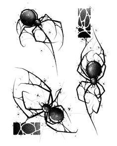 Spider Art, Spider Tattoo, Sketch Style Tattoos, Tattoo Sketches, Mini Tattoos, Body Art Tattoos, Bee Art, Future Tattoos, Dark Art