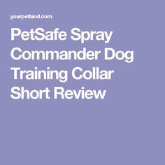 PetSafe Spray Commander Dog Training Collar Short Review