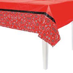 Cowboy Party Tablecloth - OrientalTrading.com