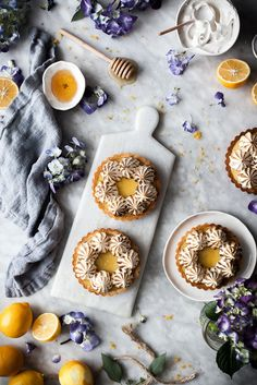 Coconut Lemon Meringue Tarts