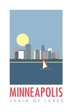 Minneapolis Chain of Lakes Lake Harriet Poster
