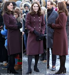 Duchess Catherine in Dolce and Gabbana coat for Day 4 - Royal Tour February 2018 -The Duke and Duchess started the day atHartvig Nissen School, joined by Crown PrinceHaakon and Crown Princess Mette-Marit