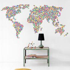 Worksheet. Parede de quarto com uma mapa mundi  decorao  Pinterest  Map