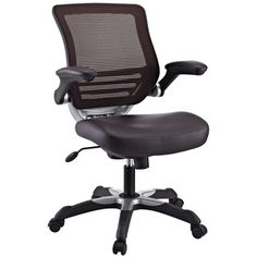 @Overstock - The Focus office chair combines classic style with cutting edge ergonomics to deliver one comprehensive seating experience. This chair adjusts to various seat heights between 16 and 19 inches.   http://www.overstock.com/Home-Garden/Focus-Brown-Mesh-Back-Faux-Leather-Office-Chair/6673066/product.html?CID=214117 $139.99