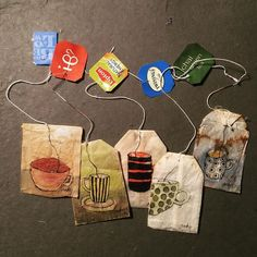 These Old Used Tea Bags Are Transformed Into Beautiful Art By Ruby Silvious Ruby Silvious hat erstaunlicherweise alte Teebeutel in kleine Kunstwerke Tea Bag Art, Tea Art, Diy Paper, Paper Art, Paper Crafts, Used Tea Bags, Scrapbook Journal, Art Journal Inspiration, Style Inspiration