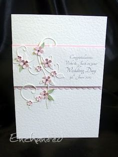 Enchanted: Wedding Card - a stunning creation by Mandi