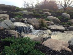 Pondless Waterfall Portfolio|Water Features|Water Feature Contractor|Rochester NY -  Acorn Ponds & Waterfalls