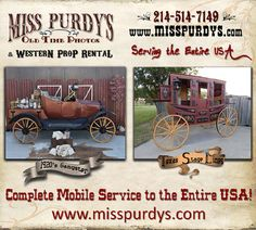 Old Time Photo Booth for rent and Great Gatsby Photo Booth for rent in Birmingham AL with complete mobile service to the entire USA, complete with Gangster Backdrops, Western Backdrops, Gangster Costumes, Western Costumes, Accessories & Guns for Stagecoach Festivals & Fairs! Call Miss Purdy today to book your event, and check out her website at www.misspurdys.com