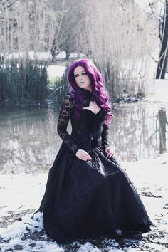 """gothicandamazing: """"Model/Photo: Anomaly Outfit: Dark in love/ Blue Raven Wig: Black Candy Fashion Welcome to Gothic and Amazing   www.gothicandamazing.com """""""