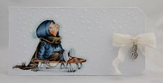 DT Elin Utfordring #82 Mo Manning, Pencil Writing, Diy Christmas Cards, Mo S, Copic Markers, Prismacolor, Dream Team, Winter Snow, Diy Cards