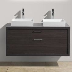 "Tucci 48"" Double Sink Modern Bathroom Vanity"