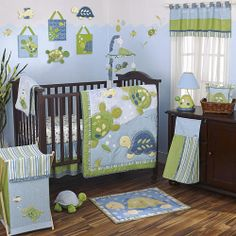 You won't want to miss our fun blue baby room. Get more decorating ideas at http://www.CreativeBabyBedding.com