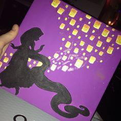Rapunzel silhouette canvas