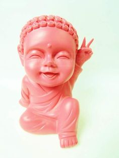 shopgoodwill.com: PINK MINI LAUGHING  BABY BUDDHA STATUE