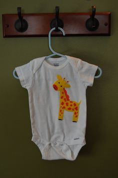 Felt Giraffe Onsie by CJsCCorner on Etsy, $13.00
