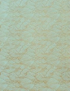 Yuzen Pool Gold Waves Fine Paper  Green/gold combo