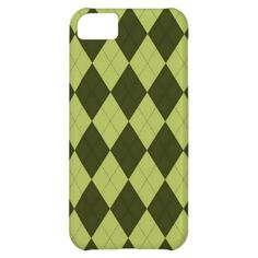 Green Argyle Pattern iPhone 5C Covers