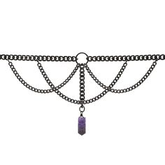 APSIS. GUNMETAL & CRYSTAL CHAIN CHOKER - REGALROSE | SHOP Fashion Jewellery & Accessories