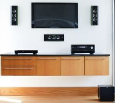 Klipsch on-wall speakers