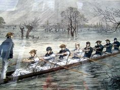 Tweeted picture from @JoEamesAuthor @Oxford Mail I'm no climate change denier but this was Oxford's crew on flooded Isis in 1872! pic.twitter.com/IdMCANqkOR