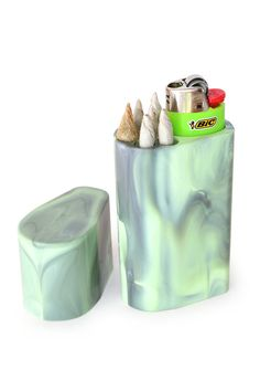Smoke Space Cigarette Case Bic Lighter Sleeve Smoking