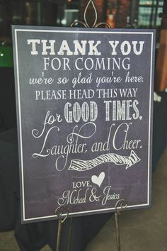 Custom wedding welcome sign for guests. www.rebeccachan.ca