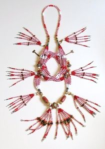 """""""Sango Shango Chango No.2 with Detachable Fringes"""" This piece is a one of a kind, inspired by Baba Sango. I think, I hear THUNDER . . . Available for purchase at BeadZoneJewelry.com"""