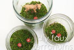 Nice!  Terrariums I can't kill: DIY Faux Terrariums: Please Note by Skunkboy Creatures., via Flickr