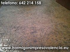 TRabajos de hormigon impreso en Valencia y alrededores de Valencia.